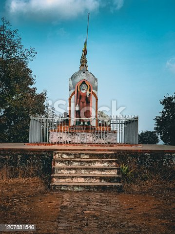 Statue of Lord Gautam buddha in Shreenagar Tansen Palpa Nepal. Shreenagar is one of the famous place which is rich by natural beauties.