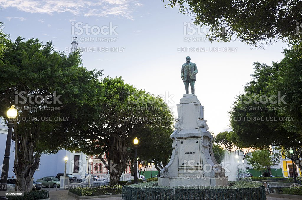 Statue of Luis Muñoz Rivera in Ponce, Puerto Rico stock photo