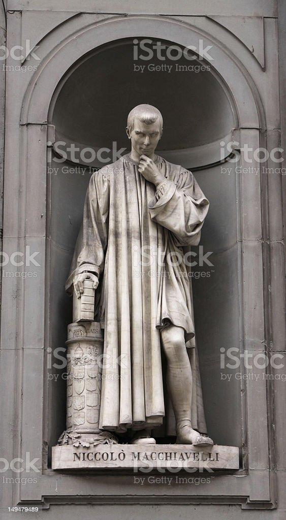 Statue of Machiavelli stock photo