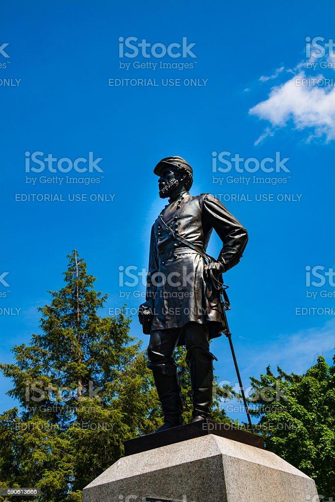 Statue of Major General John Reynolds stock photo