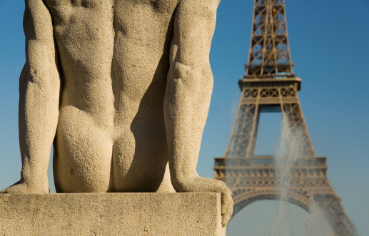 Statue Of Man At The Trocadero Stock Photo - Download Image Now