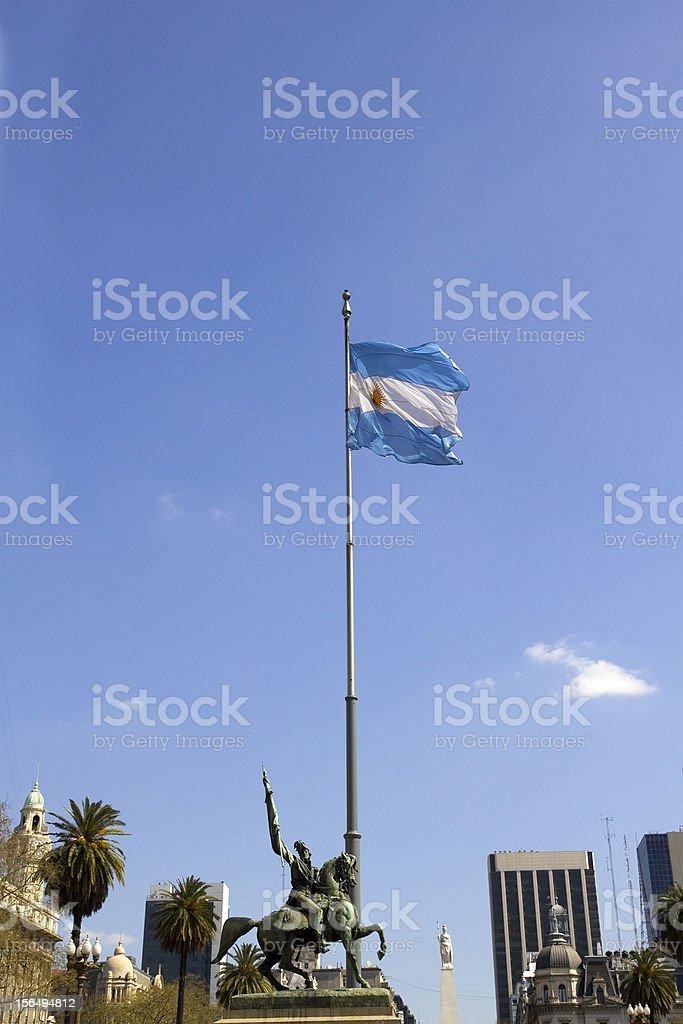 Statue of Manuel Belgrano stock photo