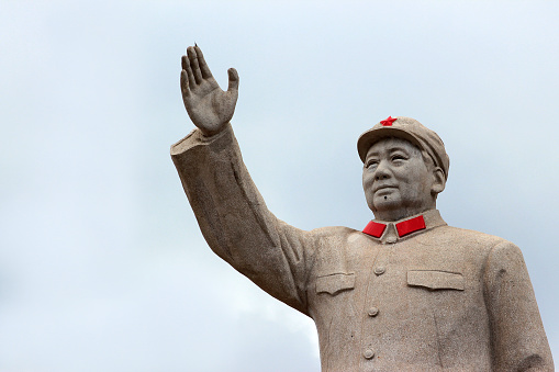 Statue Of Mao Zedond In Central Lijiang Stock Photo - Download Image Now