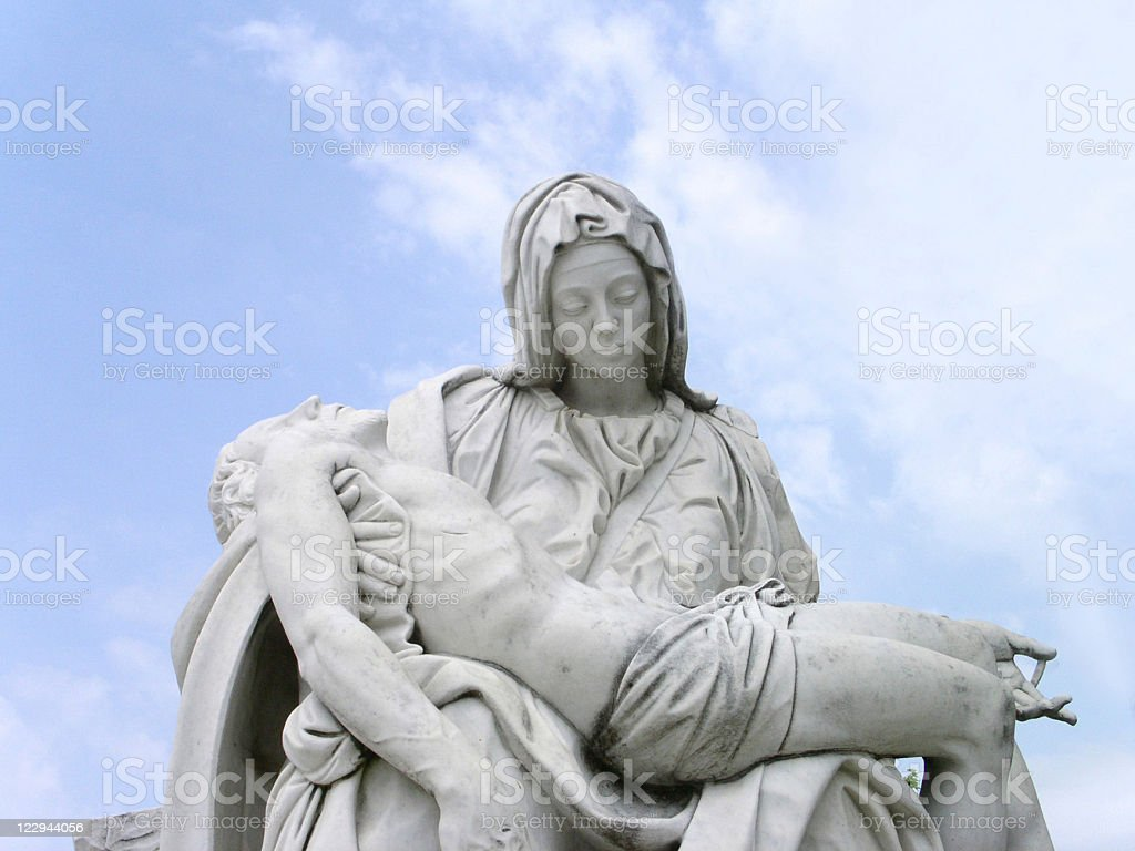 Statue of Mary and Christ - The Pieta stock photo