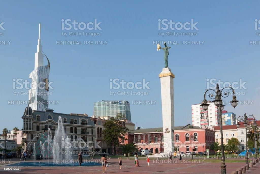 Statue of Medea in the Batumi. The Republic Of Georgia stock photo