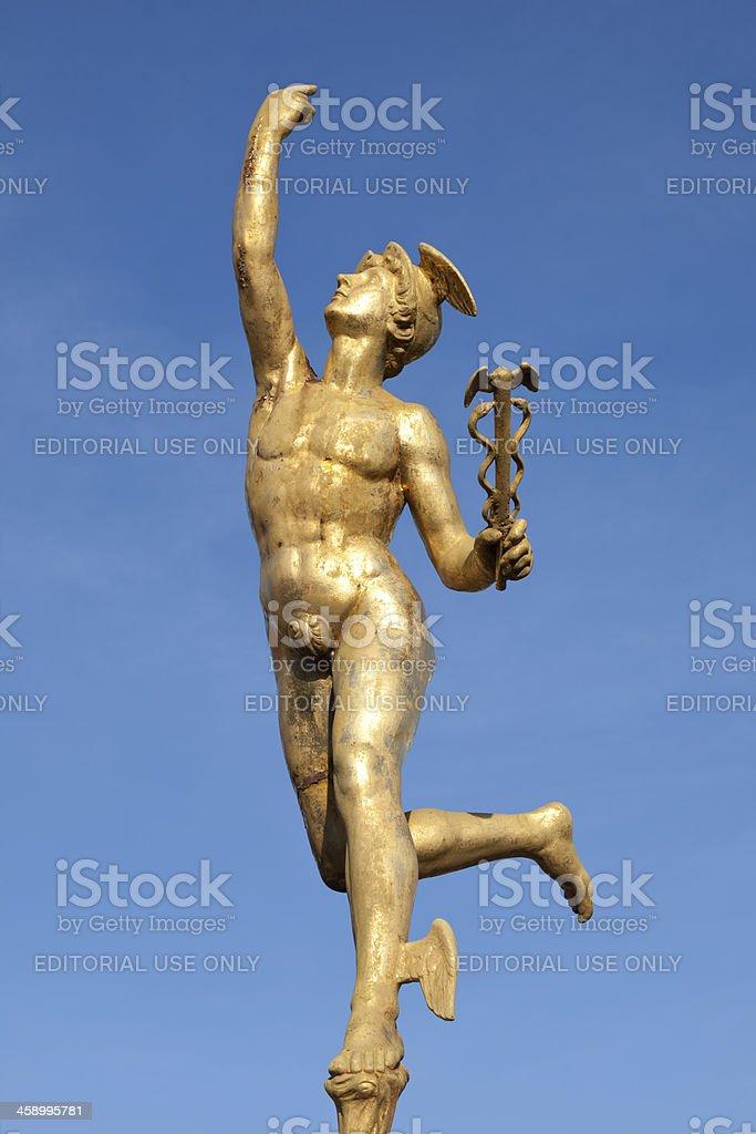 Statue of Mercury stock photo