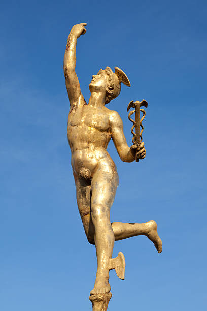 Statue of Mercury stock photo