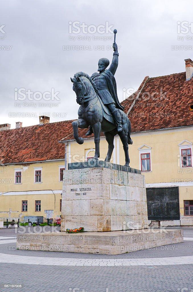 Statue of Mihai Viteazul. stock photo