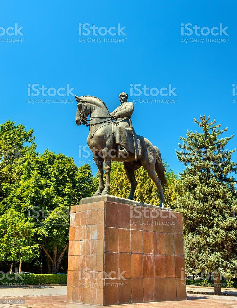 Statue of Mikhail Frunze in Bishkek, Kyrgyzstan stock photo