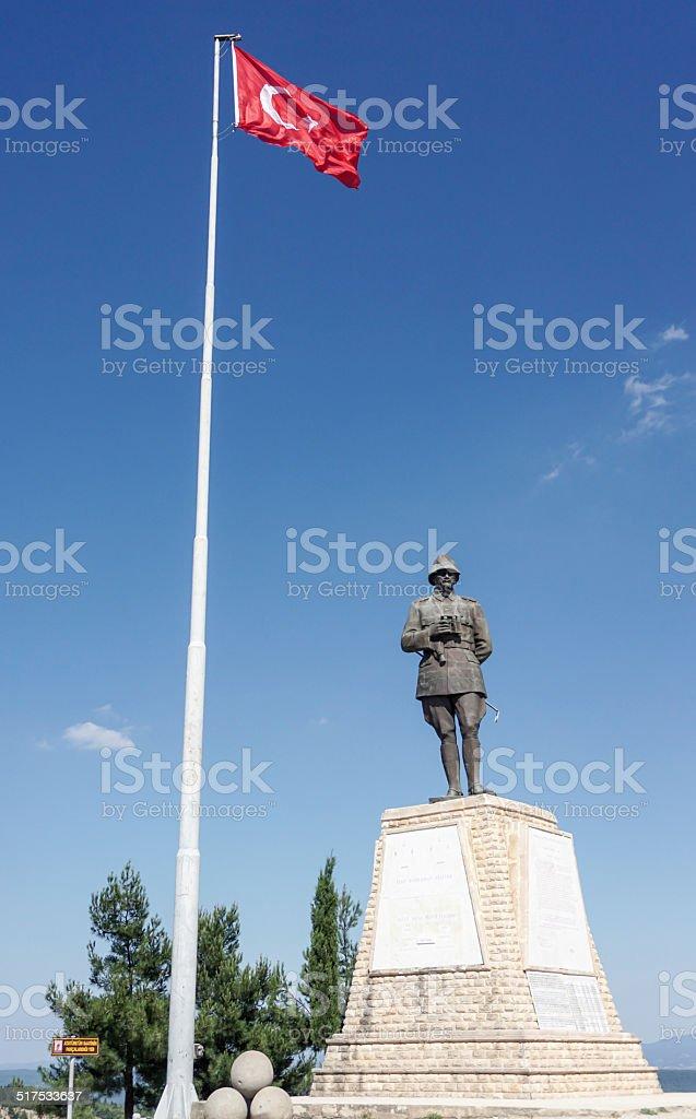 Statue of Mustafa Kemal Ataturk stock photo