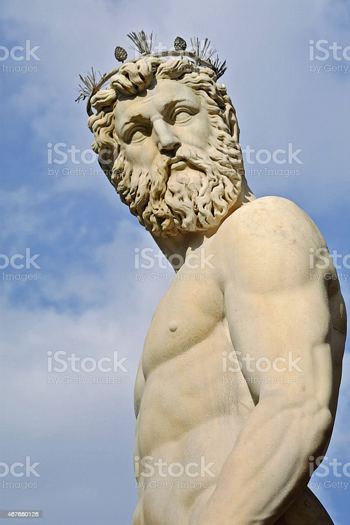 Statue of Neptune, Florence stock photo