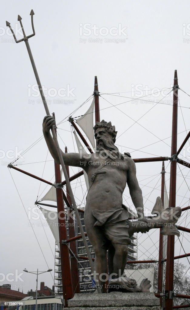 Statue Of Neptune in Bristol stock photo