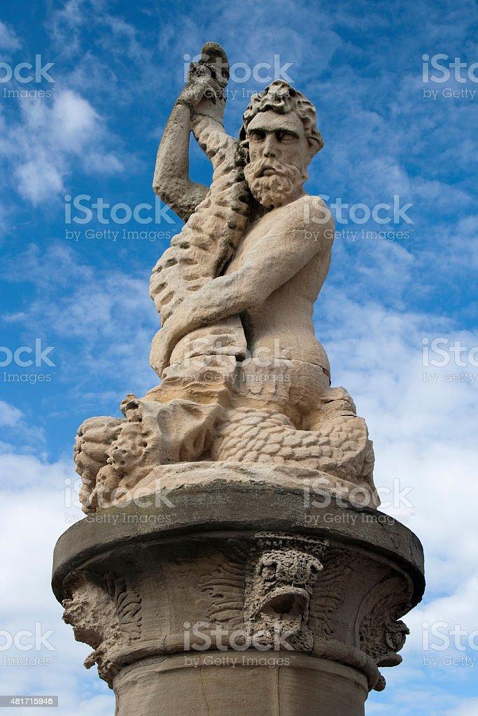 Statue of Neptune, Lowestoft, Suffolk, England stock photo