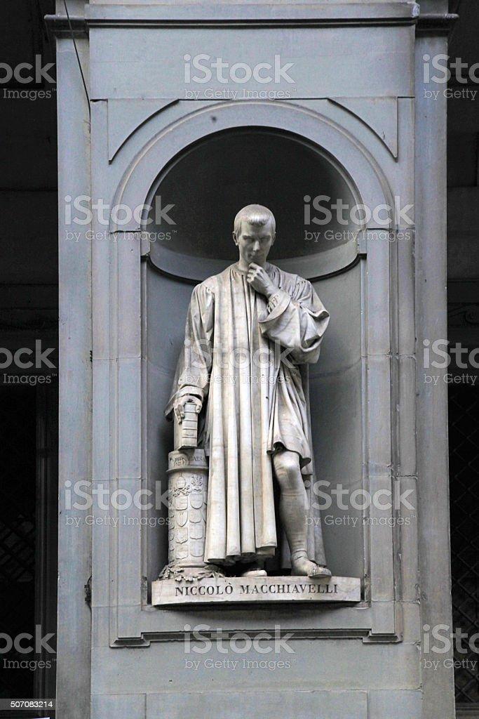 Statue of Niccolo Macchiavelli, Florence, Italy stock photo