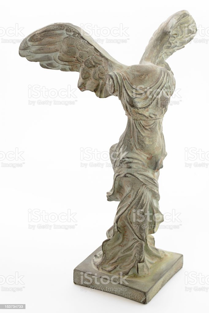 A statue of Nike, the goddess of Victory, of Samothrace stock photo