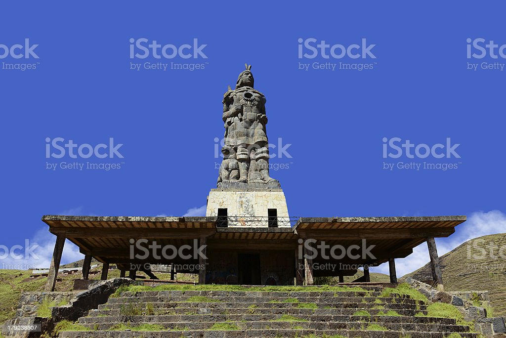 Statue of Pachacutec stock photo