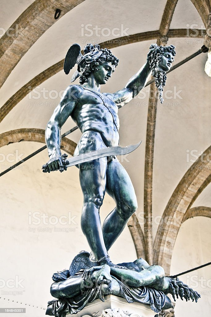Statue of Perseus in Florence, Italy royalty-free stock photo
