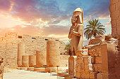 Statue Of Pharaoh At Karnak Temple in Luxor