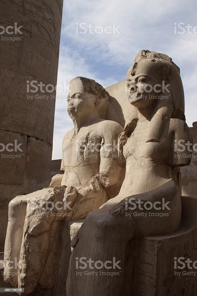 Statue of Pharaoh at the Luxor Temple, Egypt stock photo