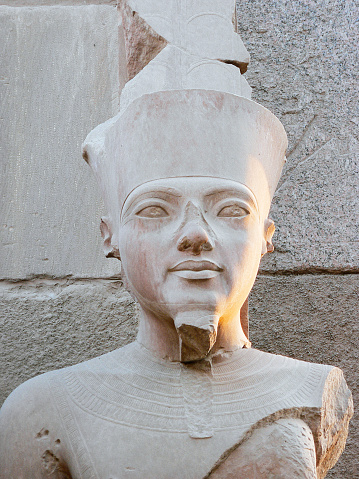 istock Statue of Pharaoh Ramses II in the great temple of Karnak dedicated to the cult of Amun, in the city of Luxor in Egypt 1249838881