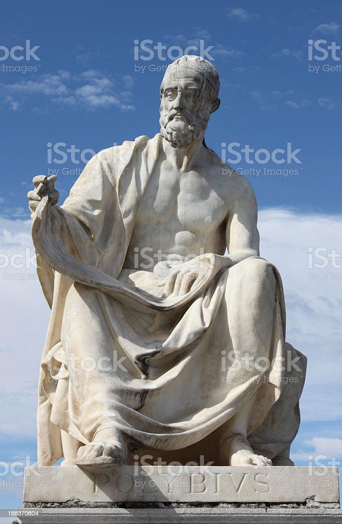 Statue of Polybius royalty-free stock photo