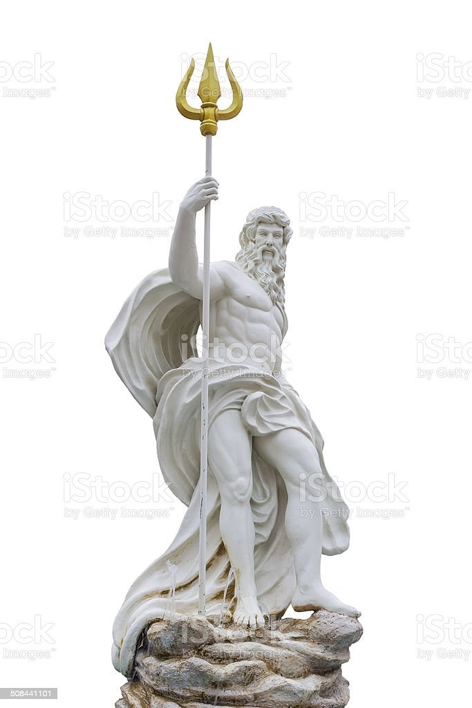 Statue of Poseidon stock photo