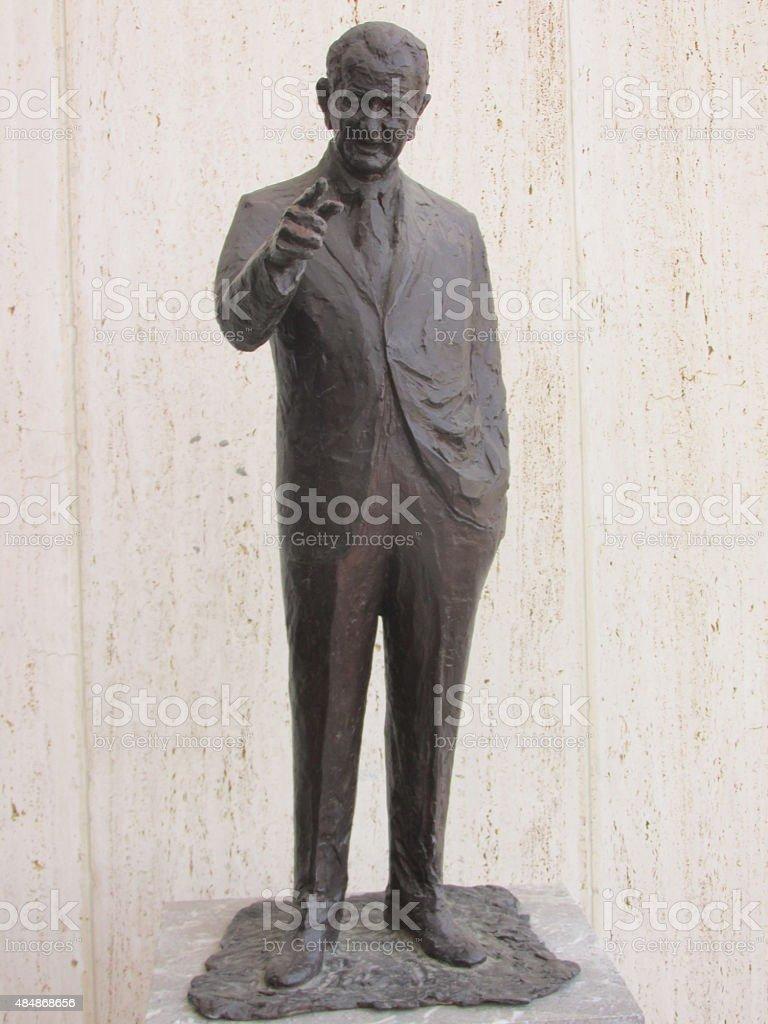 Statue of President Lyndon B. Johnson stock photo