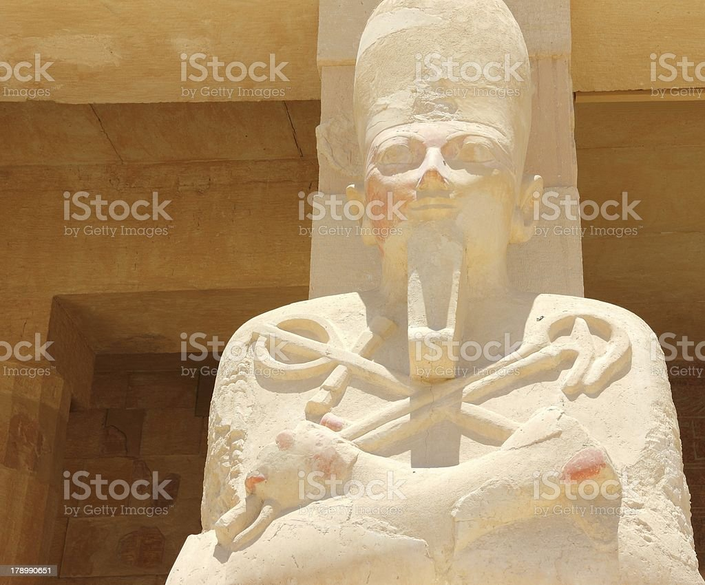 Statue of Queen Hatshepsut. royalty-free stock photo