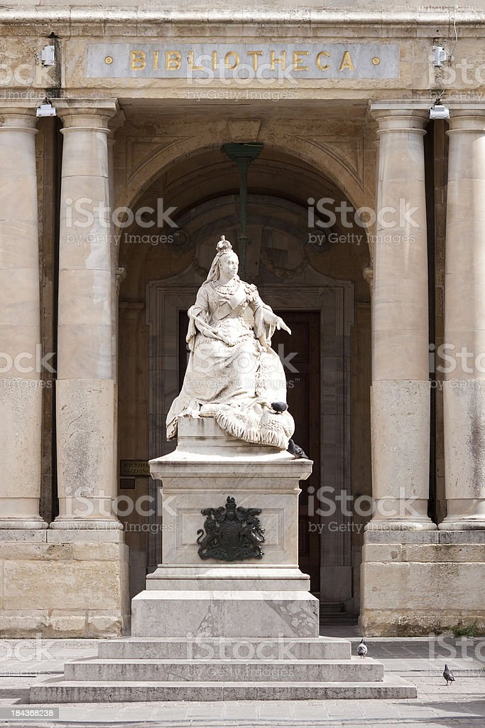 Statue of Queen Victoria in Malta stock photo