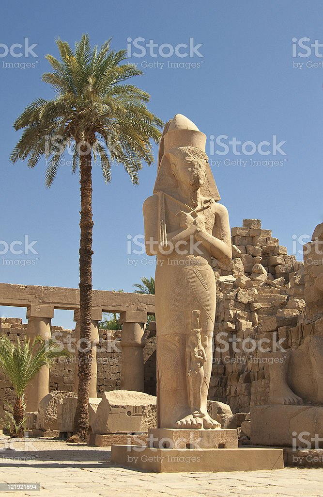 statue of Rameses II in Karnak temple royalty-free stock photo