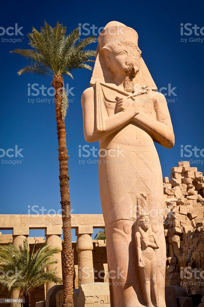 Statue of Rameses II royalty-free stock photo