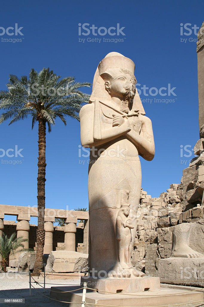 Statue of Ramesses II, Egypt stock photo