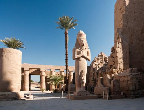Statue of Ramses II and Nefertari at Karnak