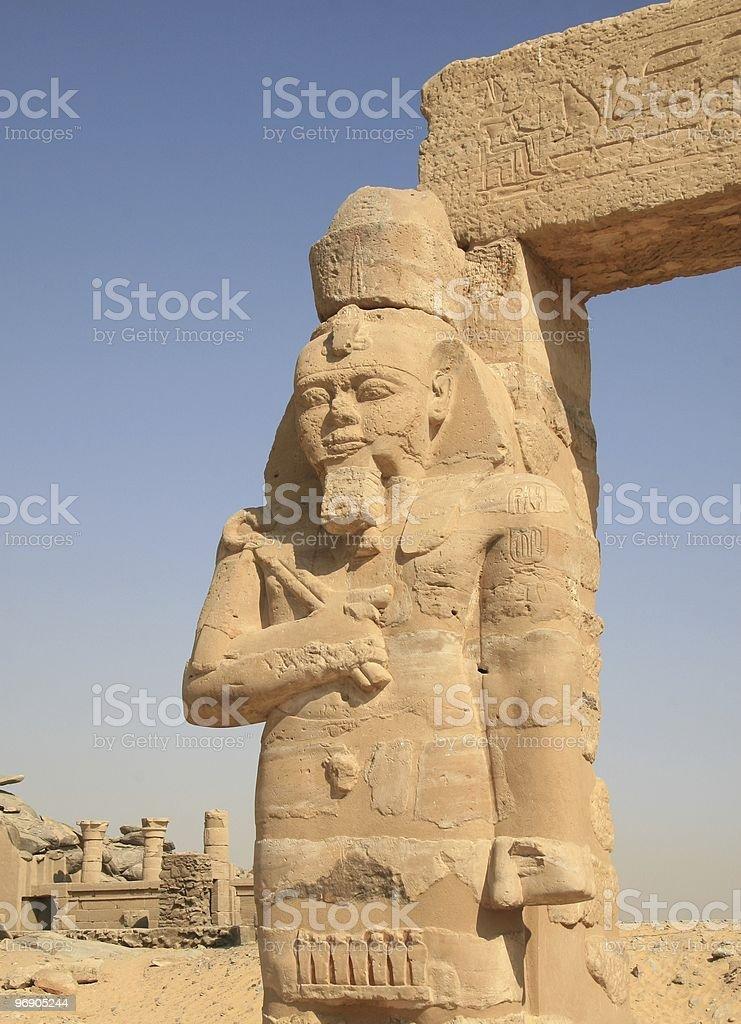 Statue of Ramses II, Kalabsha Temple, Aswan, Egypt royalty-free stock photo
