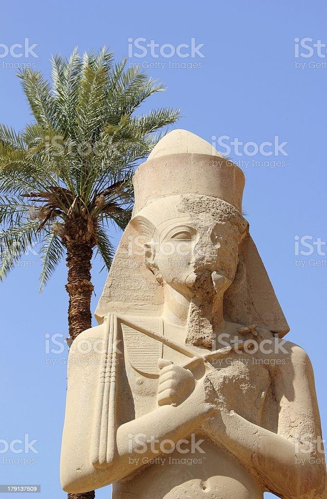 Statue of Ramses II. Karnak Temple, Luxor, Egypt. royalty-free stock photo