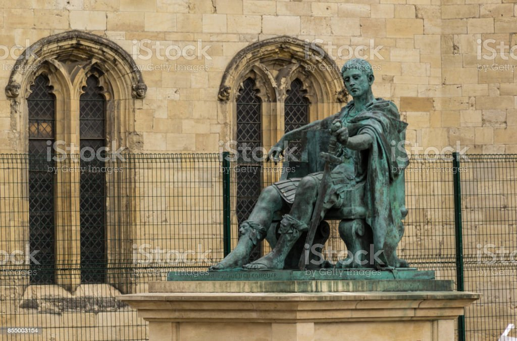 Statue of Roman Emperor Constantine the Great stock photo