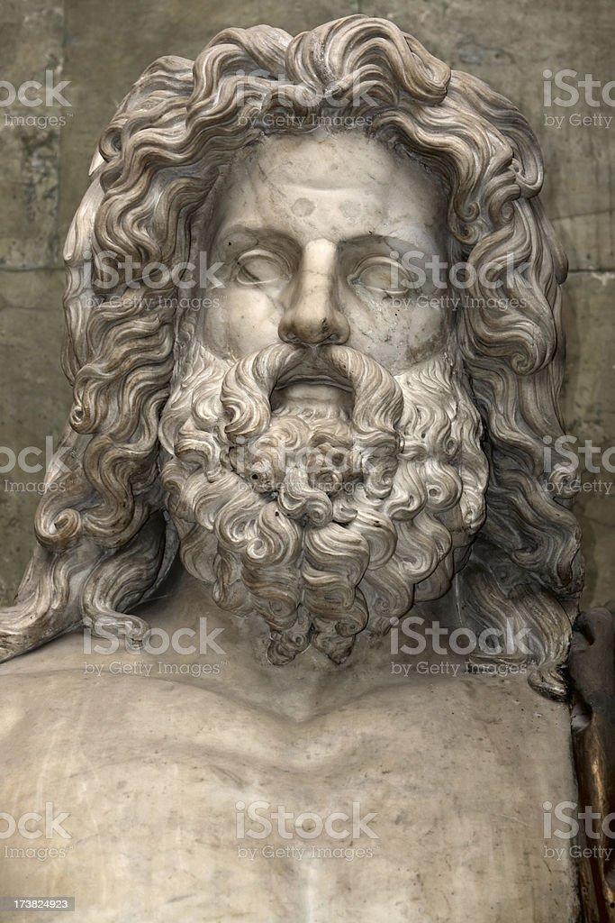 Statue of Roman God Jupiter (Zeus) stock photo