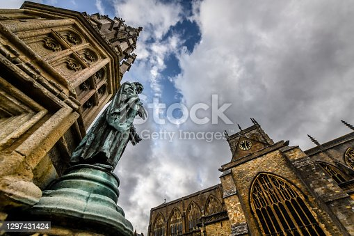 Statue Of Saint Of Sherborne Abbey, UK