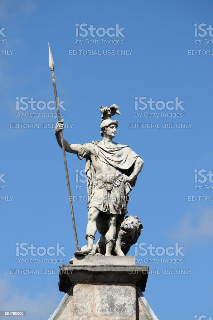 Statue of saint Patrick at Dublin castle stock photo