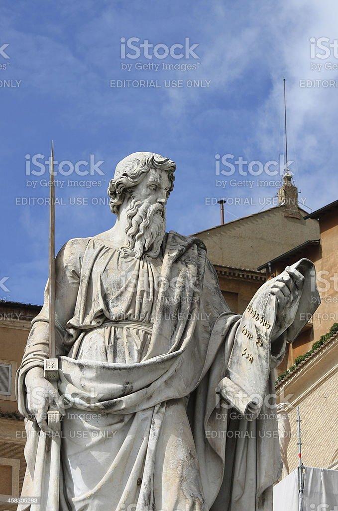 Statue of Saint Paul the Apostle in Vatican stock photo