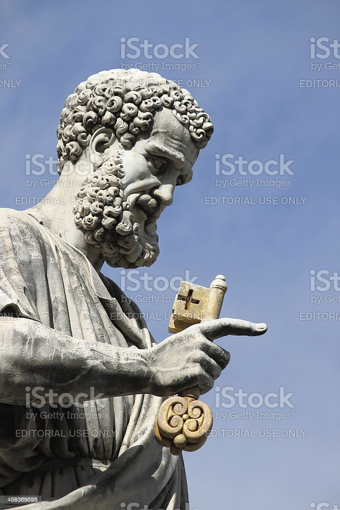 Statue of Saint Peter the Apostle in Vatican royalty-free stock photo