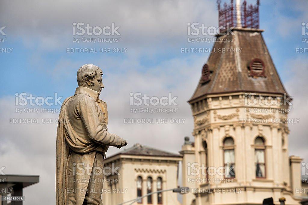 Statue of Scottish poet Robert Burns stock photo
