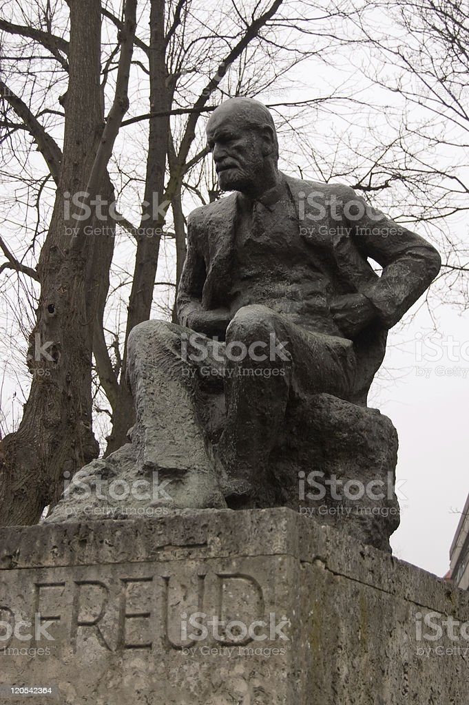 Statue of Sigmund Freud  Color Image Stock Photo