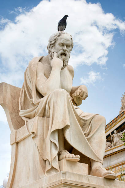 Statue of Socrates, Athens, Greece stock photo