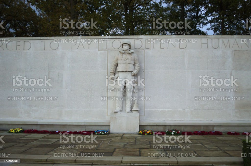 Statue of Soldier stock photo