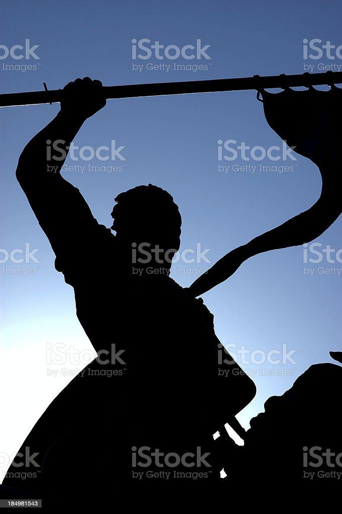 Statue of Spanish Explorer - Balboa royalty-free stock photo
