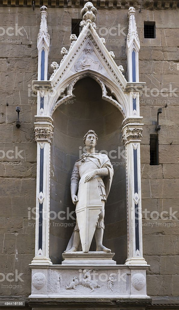 Statue of St. George, the sculptor Donatello royalty-free stock photo