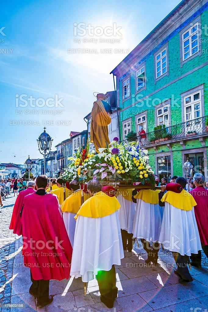 Statue of St John 'São João' procession, stock photo