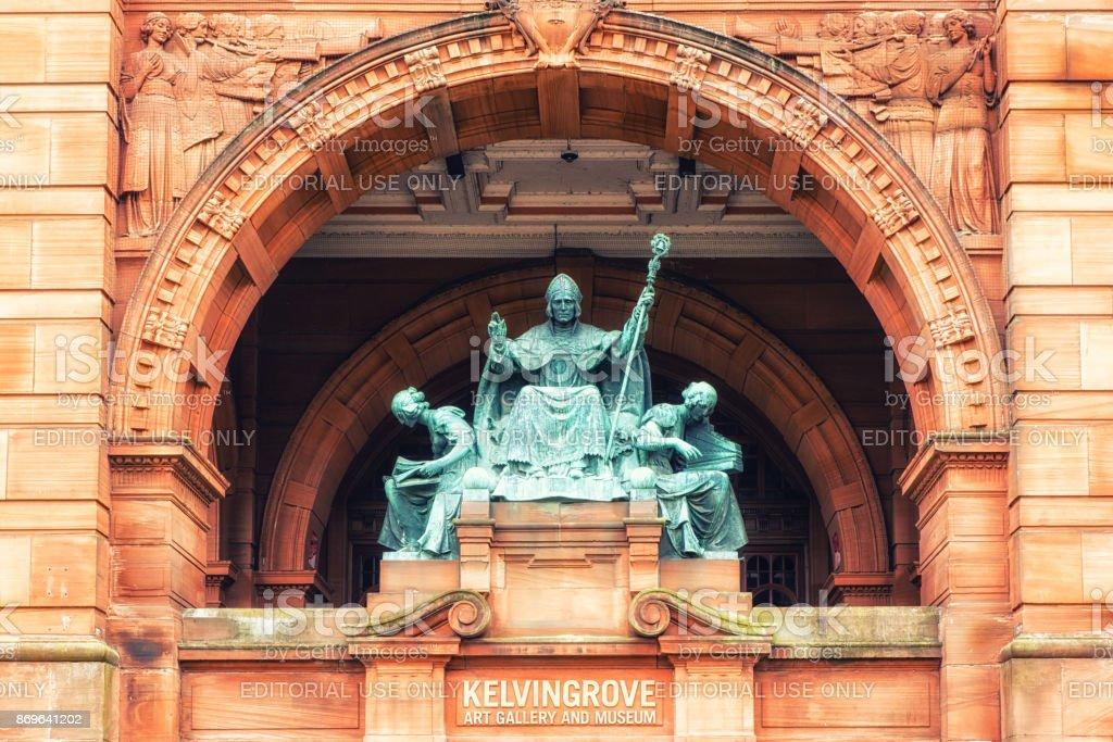 Statue of St Mungo stock photo