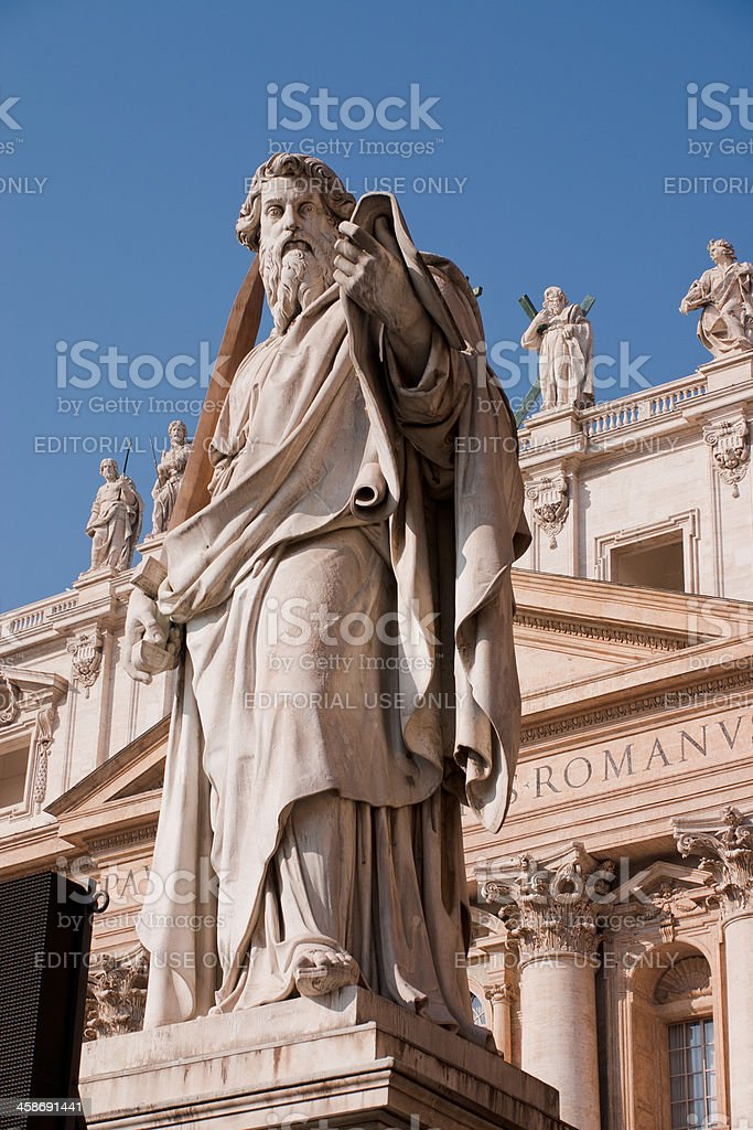 Statue of St Paul royalty-free stock photo